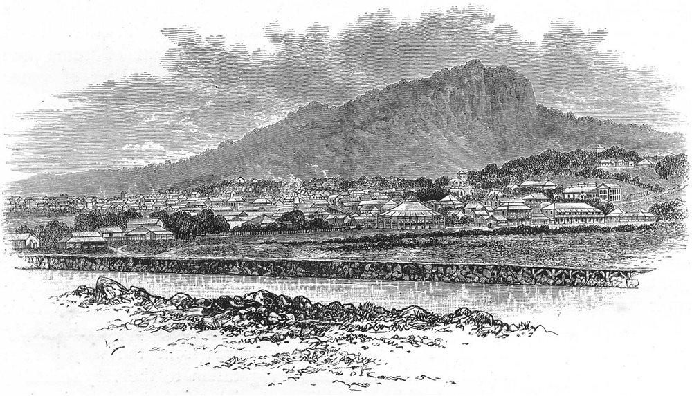 Associate Product AUSTRALIA. Queensland. Townsville, North Queensland 1886 old antique print