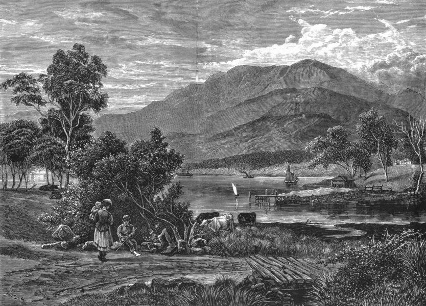 Associate Product AUSTRALIA. Tasmania. View of Mount Wellington, Tasmania 1886 old antique print