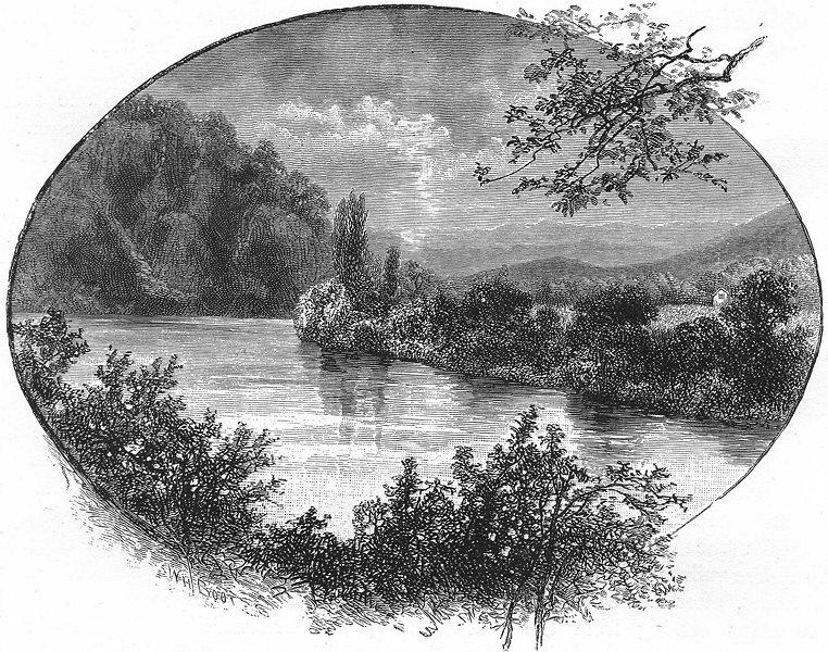 Associate Product AUSTRALIA. Tasmania. On the River Derwent 1886 old antique print picture