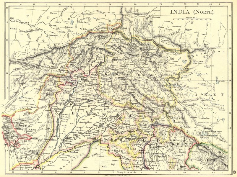 Associate Product INDIA. India(North) 1897 old antique vintage map plan chart