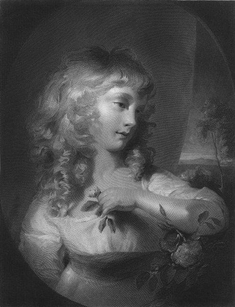 Associate Product PRETTY LADIES. The Princess Amelia c1870 old antique vintage print picture