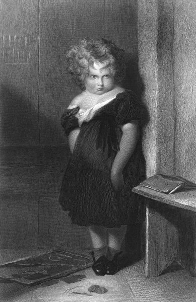 Associate Product CHILDREN. Naughty boy-Landseer Finden c1870 old antique vintage print picture