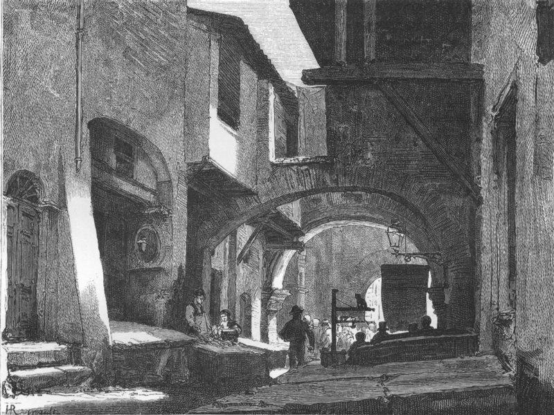 Associate Product ROME. Fish Market 1872 old antique vintage print picture