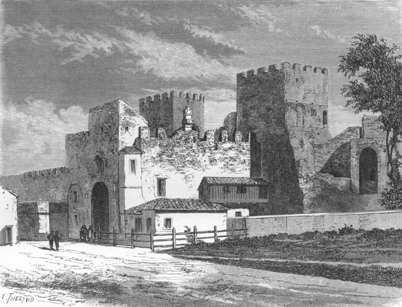 Associate Product ROME. Gate of St Paul, or Ostiensis 1872 old antique vintage print picture