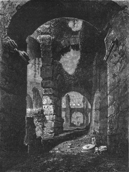 Associate Product ROME. Interior of the Colloseum 1872 old antique vintage print picture