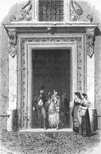 Associate Product ROME. Gate of the Palace of Venice 1872 old antique vintage print picture
