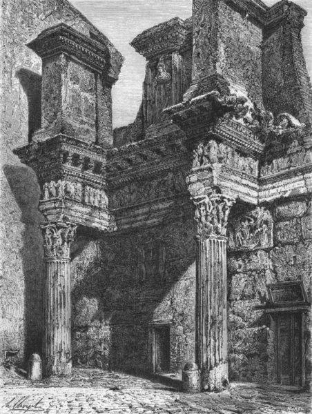 Associate Product ROME. Forum Transitorium, or of Nerva 1872 old antique vintage print picture