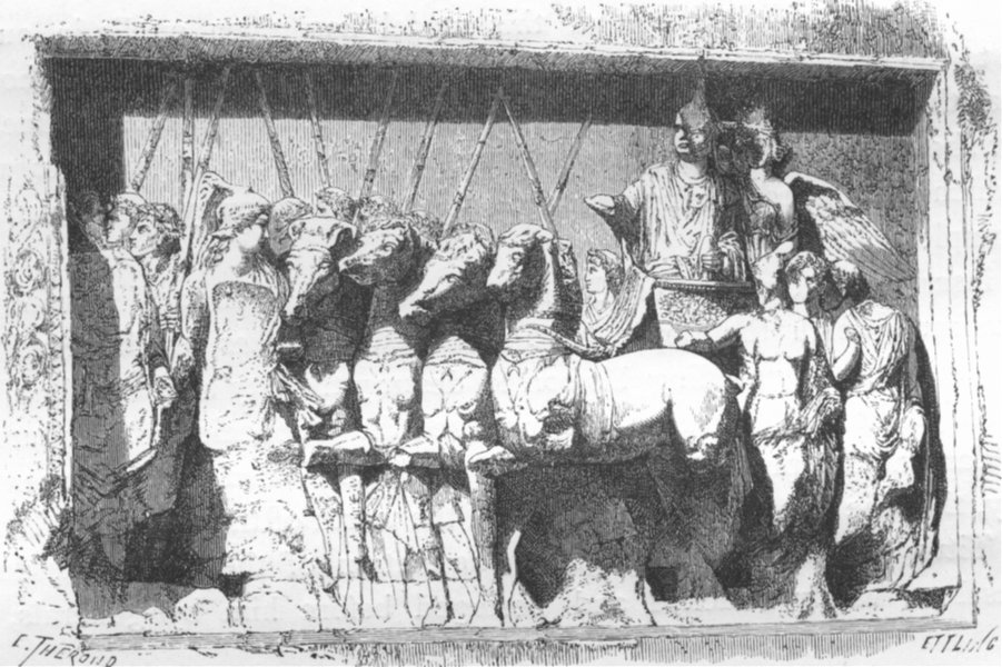 Associate Product ROME. Bas-relief of the Arch of Titus 1872 old antique vintage print picture