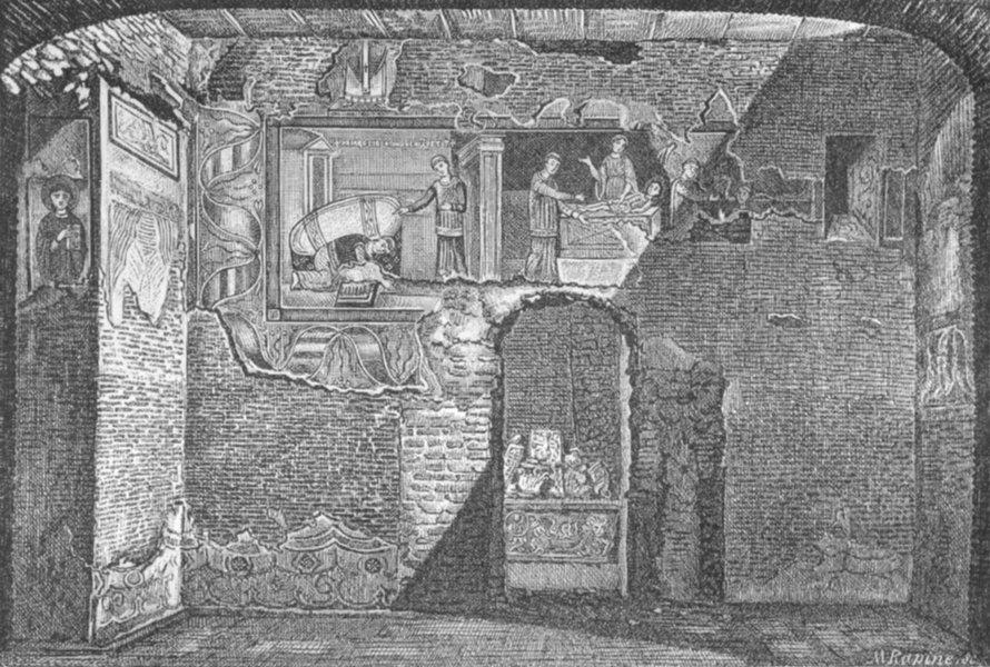 Associate Product ROME. Legend of St Libertinus. Bits 8th Century 1872 old antique print picture