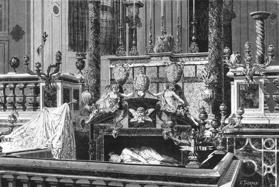 Associate Product ROME. Altar & Monument of St Caecilia 1872 old antique vintage print picture