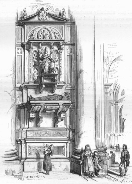 Associate Product ROME. Tomb of Innocent VIII 1872 old antique vintage print picture