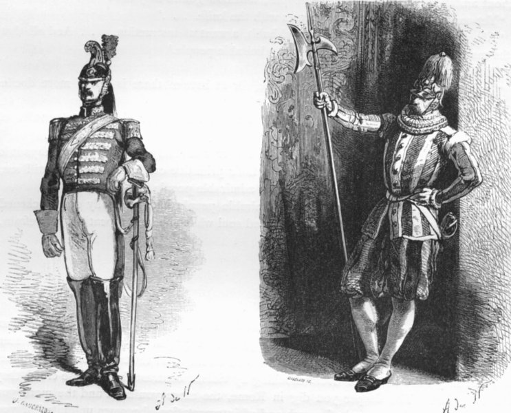 Associate Product ROME. Noble Guard; Pope's Swiss 1872 old antique vintage print picture