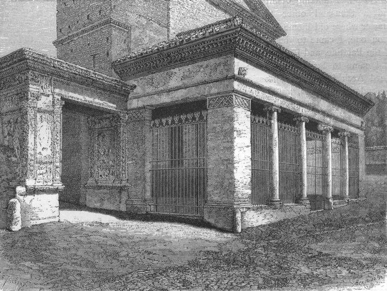 Associate Product ROME. Arcus Argentariorum. Porch, San Giorgio Velabro 1872 old antique print