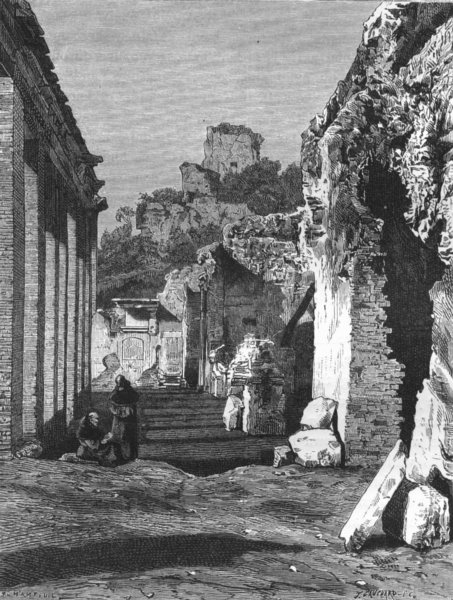 Associate Product ROME. Ruins on the Palatine 1872 old antique vintage print picture