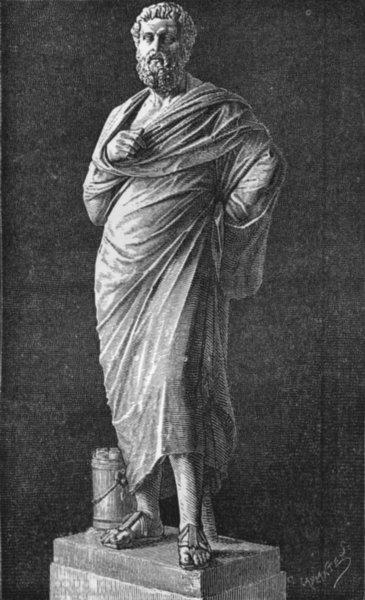 Associate Product ROME. Sophocles 1872 old antique vintage print picture