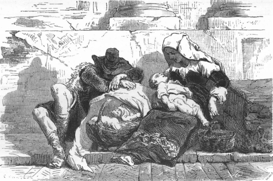 Associate Product ROME. Group slumbering over cradle' 1872 old antique vintage print picture
