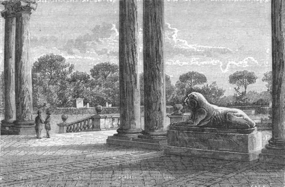 Associate Product ROME. Under the Portico 1872 old antique vintage print picture