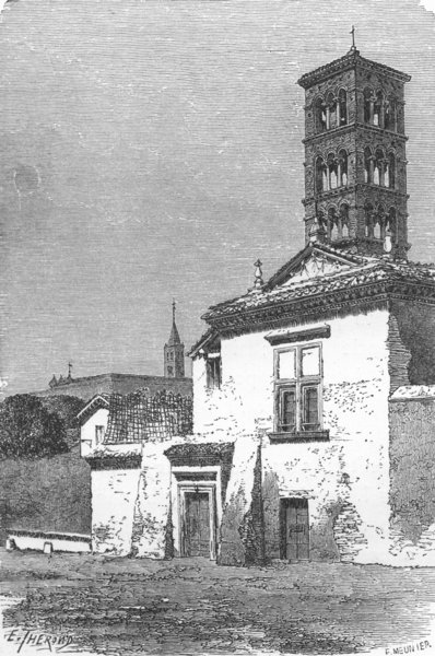 Associate Product ROME. Convent of Santa Pudenziana 1872 old antique vintage print picture