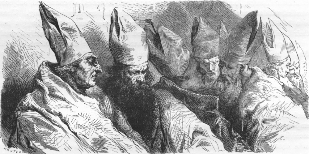 Associate Product ROME. Oriental Bishops with long beards  1872 old antique print picture