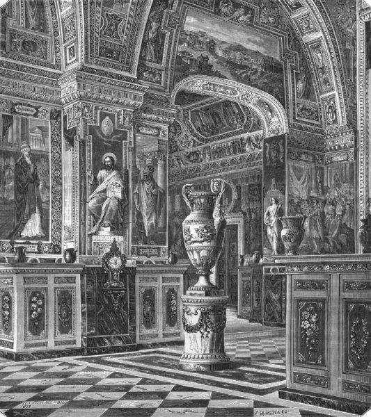 Associate Product VATICAN. Vatican Library 1872 old antique vintage print picture