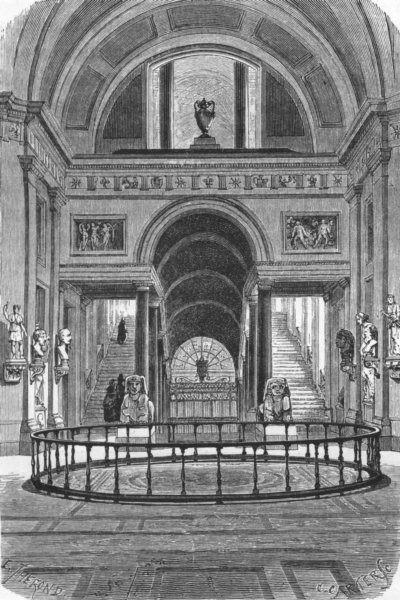 Associate Product VATICAN. Hall of the Greek Cross 1872 old antique vintage print picture