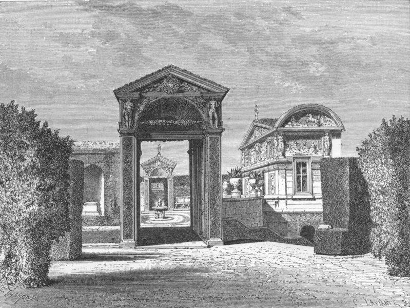 Associate Product VATICAN. Casino of Pius IX 1872 old antique vintage print picture