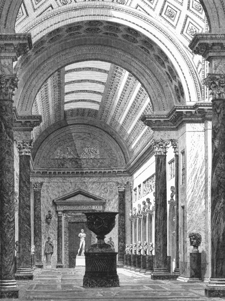 Associate Product VATICAN. The Bracchio Nuovo 1872 old antique vintage print picture