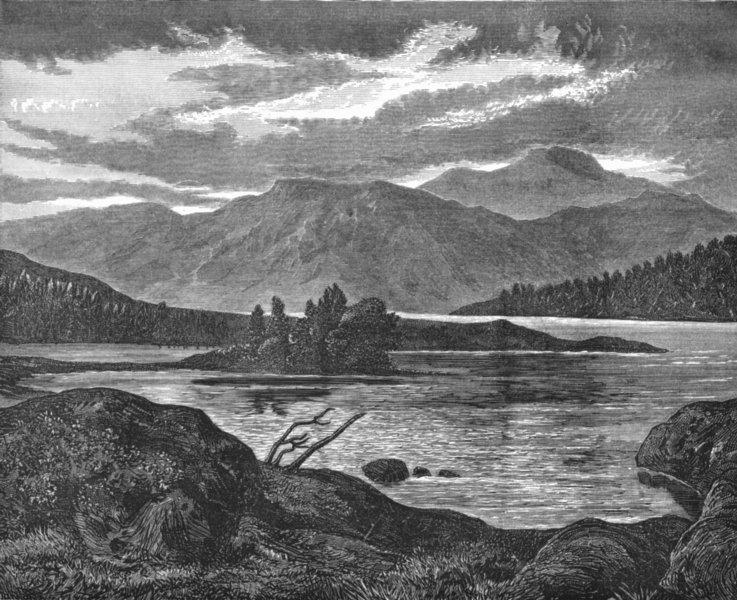 Associate Product SCOTLAND. Lake-Landseer c1880 old antique vintage print picture