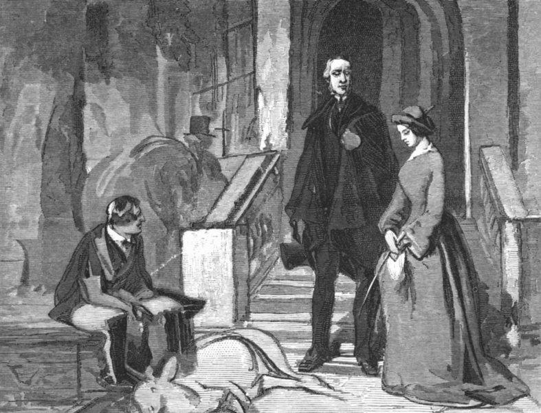 Associate Product PEERS. Duke Devon, Lord & Lady Cavendish-Landseer c1880 old antique print