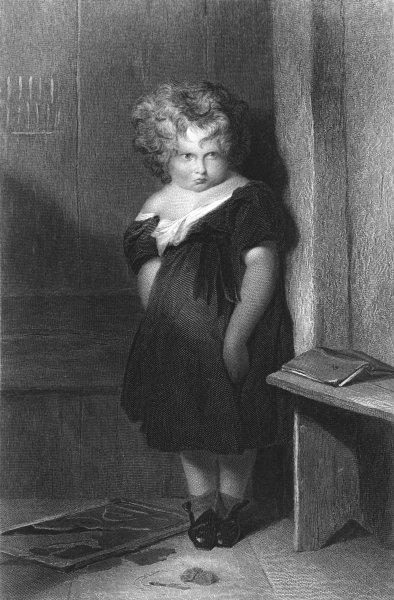 Associate Product CHILDREN. Naughty boy-Landseer Finden c1880 old antique vintage print picture
