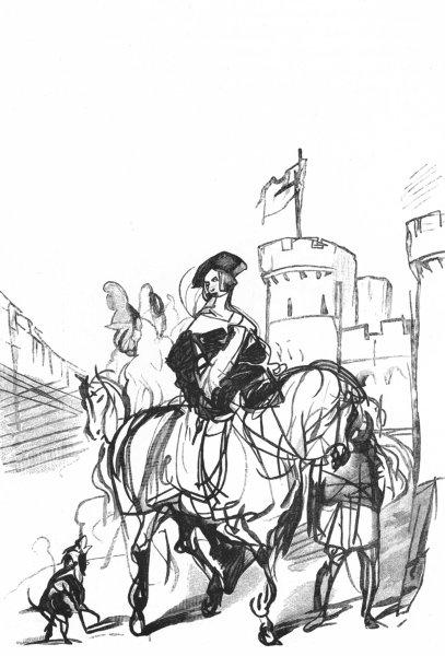 Associate Product BERKS. Sketch, Windsor Castle-Landseer c1880 old antique vintage print picture