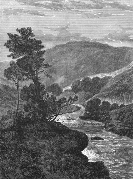Associate Product SCOTLAND. Highland Mountain stream-Landseer c1880 old antique print picture