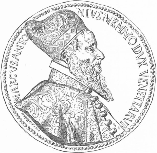 Associate Product VENICE. Marco Antonio Memmo Doge 1612-1616 1880 old antique print picture