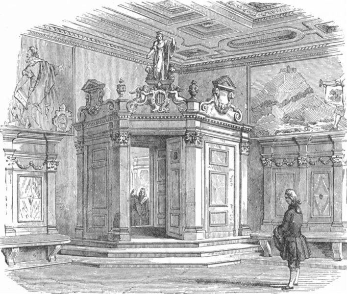 Associate Product VENICE. Antechamber, Council of 10-Sala dei Capi 1880 old antique print