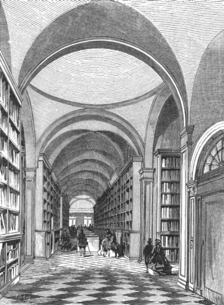 Associate Product VENICE. 1 of MS rooms, Frari 1880 old antique vintage print picture