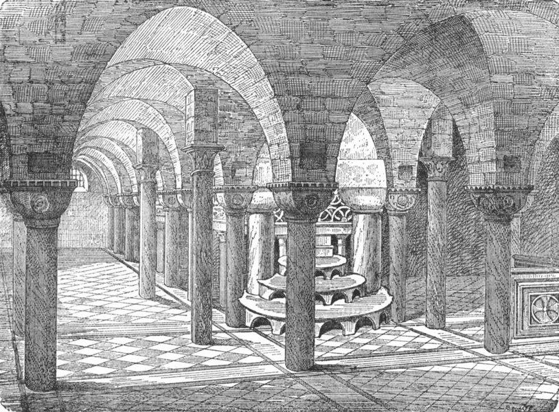 Associate Product VENICE. Crypt-St Mark's 1880 old antique vintage print picture