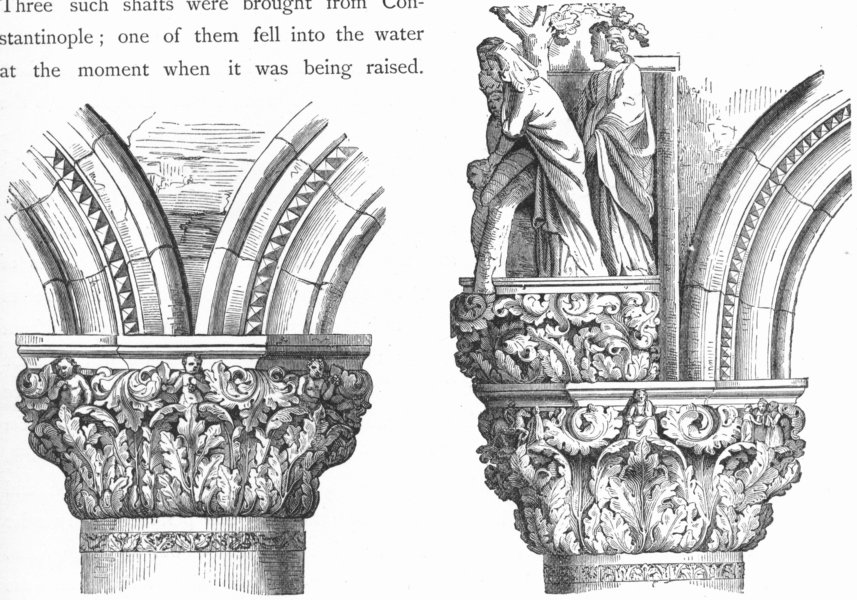 Associate Product VENICE. Portico, Ducal Palace; Porta Della Carta 1880 old antique print