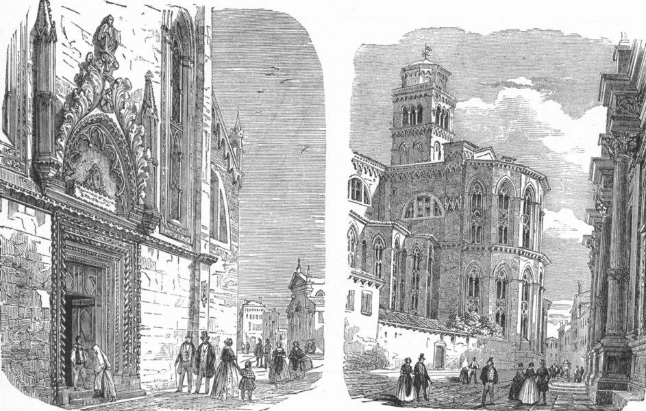 Associate Product VENICE. Sta Maria Gloriosa dei Frari; Apse of Church 1880 old antique print