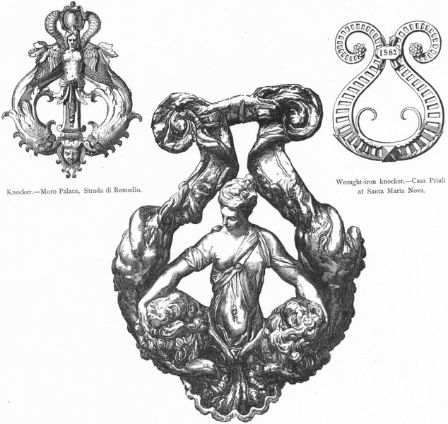 Associate Product DOORS. Moro, Strada Remedio; Priuli, Sta Maria Nova 1880 old antique print