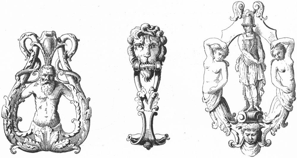 Associate Product VENICE. Justinian Lolina; Mafeti; Querini, Canareggio 1880 old antique print