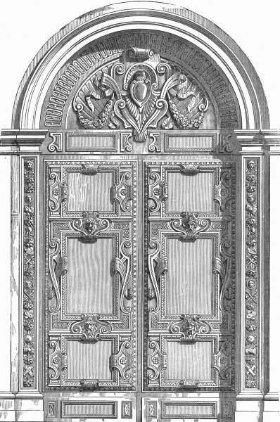 Associate Product DUCAL PALACE. Door, Stanza Scudieri(Scala d'Oro) 1880 old antique print