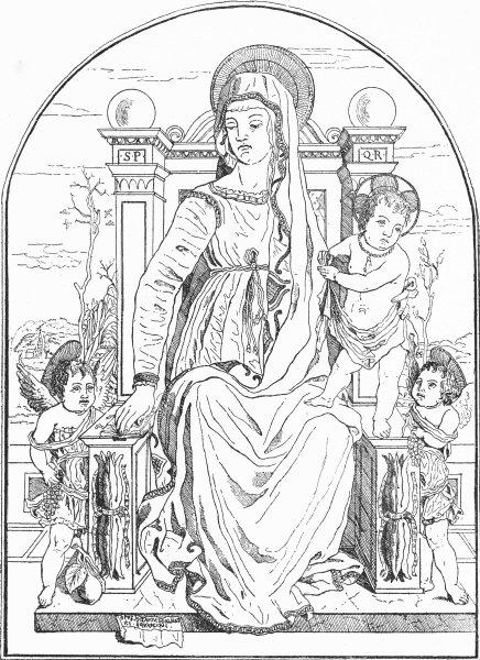Associate Product VENICE. Madonna & Child, Schiavone(Squarcione pupil) 1880 old antique print