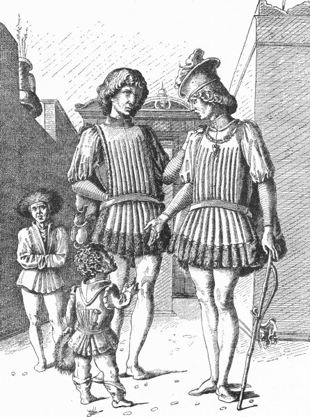 Associate Product VENICE. Copy of Mantegna drawing-Padua 1880 old antique vintage print picture