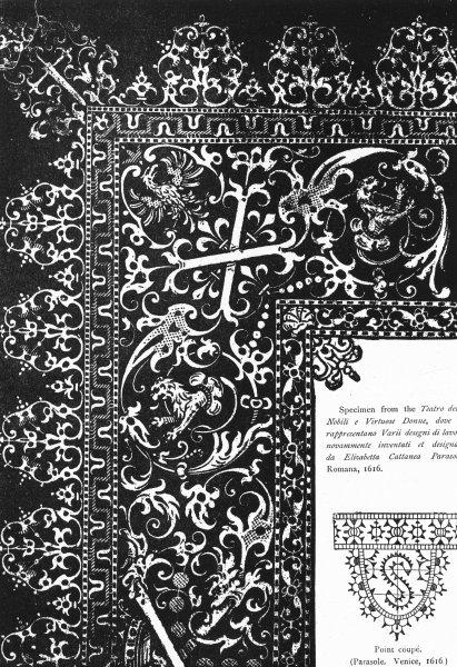 Associate Product VENICE. Teatro NobiliVirtuose Donne, Parasole Romana 1880 old antique print