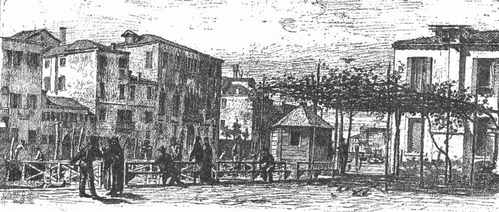 Associate Product VENICE. The Traghetto de San Vitale 1880 old antique vintage print picture