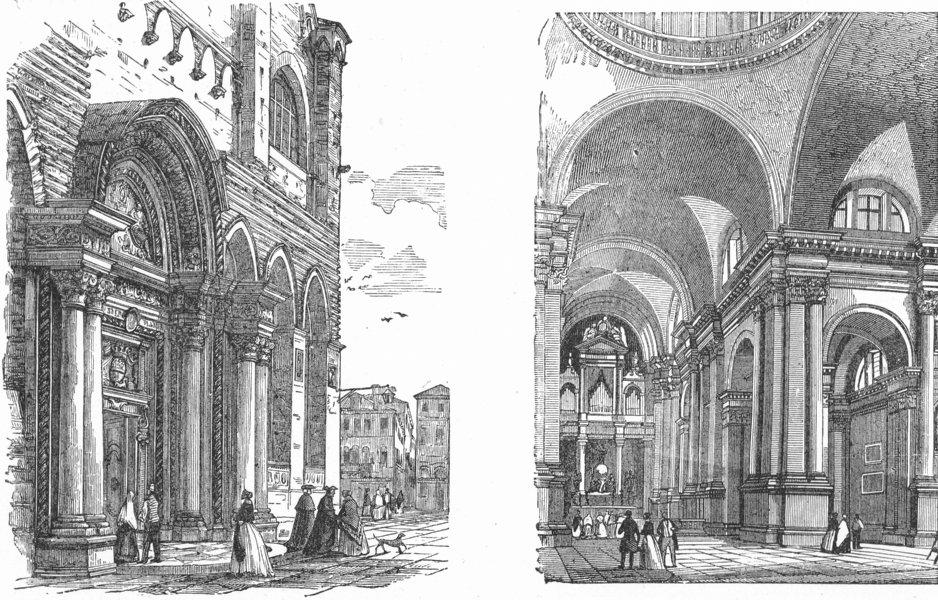 Associate Product VENICE. Entry, San Giovannie Paolo; Giorgio Maggiore 1880 old antique print