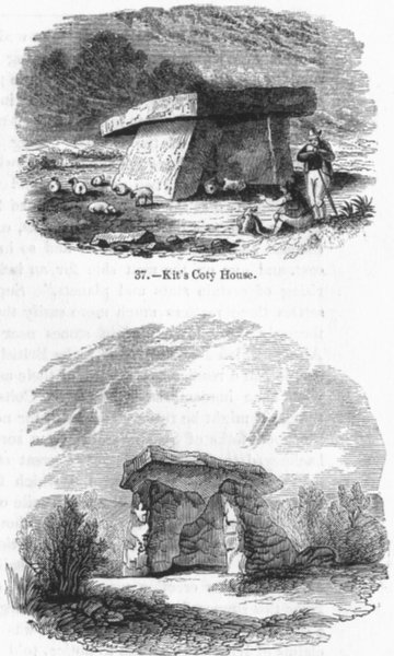 Associate Product KENT. Kit's coty house;  1845 old antique vintage print picture