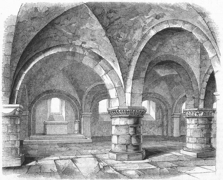Associate Product WESTMINSTER ABBEY. Edward Confessor Chapel, Pix 1845 old antique print picture