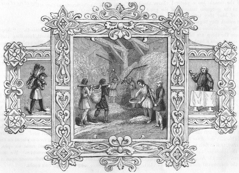 Associate Product TRIBAL. Saxon Emblems of month 1845 old antique vintage print picture