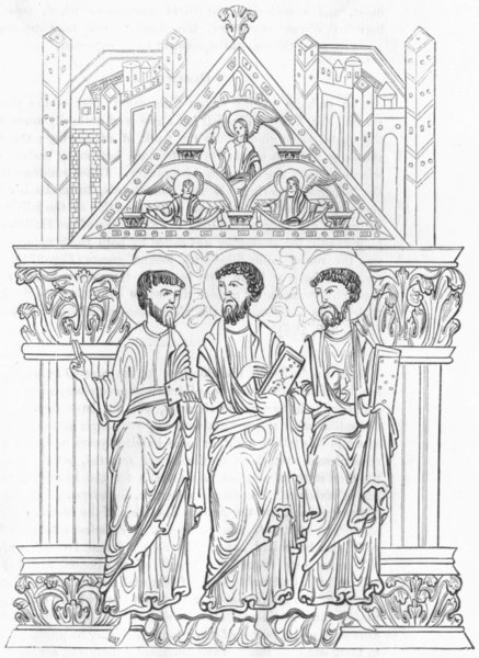 Associate Product RELIGIOUS. St Aethelwold's Benedictional 1845 antique print picture